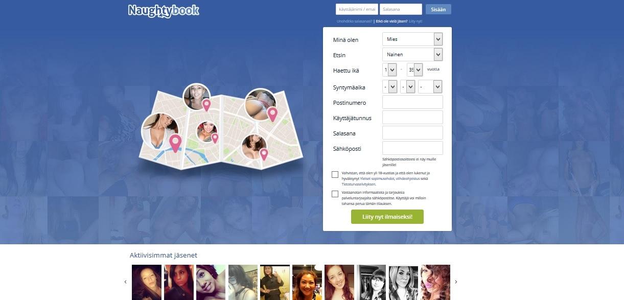 NaughtyBook.fi on Suomen suosituin sivusto seksitreffeille